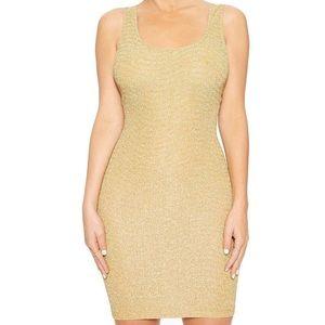Naked Wardrobe gold dress